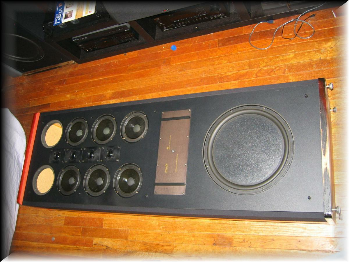 12) I had to lay the speaker down on their back in order to change the bottom wood plate