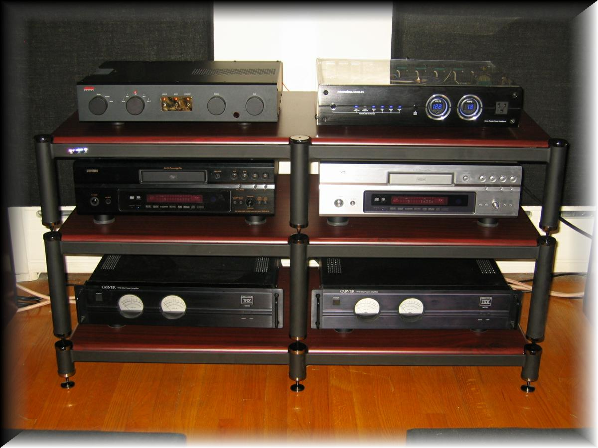 86 - Front view of the VTI BL503 Stand and now I have a Backup Denon 3910 just in case the first one dies